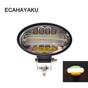ECAHAYAKU 144W LED Trabalho Light Bar Âmbar 5,5 polegadas bar Liderados feixe de estrada nevoeiro Para Offroad 4x4 SUV 4WD ATV Truck carro