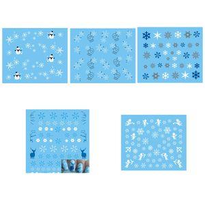 Christmas Snowflake 3D Nail Art Stickers Guanto da pupazzo di neve Decalcomanie per unghie Suggerimenti Renna Sticker di manicure