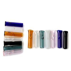 Vetro economico filtro Suggerimenti per filtro asciutto Herb tabacco greggio Cartine Pyrex vetro di alta qualità punte con rotonda bocca piana