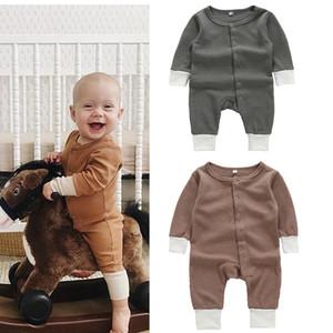 Ins Дети Boutique Одежда для новорожденных Мальчик одежда Baby Girl Rompers хлопка с длинным рукавом Комбинезоны для новорожденных ползунки малышей трико M679