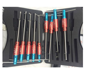 وصول جديد 9in1 Haoshi كوين رافعة قفل افتتاح أداة قفل اختيار أدوات الأقفال التلقائي سيارة قفل اختيار مجموعة أدوات للخزينة