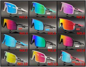 17 색 OO9406 Sutro 사이클링 안경 남성 패션 편광 TR90 선글라스 야외 스포츠 실행 안경 3 쌍 렌즈 패키지