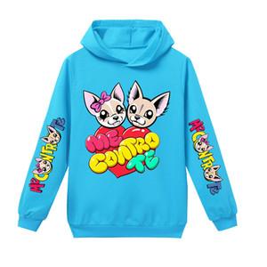 나 Contro 십대 소년 / 소녀 후드 풀오버 스카이 블루 퍼플 로즈 핑크 참신 키즈 스웨터 의류에 대한 테 디자이너 후드