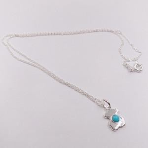 Autentici 925 ciondoli in argento sterling Argento Super collana di potenza con Fits ceramica europea gioielli orso Style regalo 812.402.690
