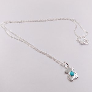 Auténticos 925 colgantes de plata collar de plata esterlina Super Power Con adapta joyas de cerámica oso estilo europeo regalo 812402690