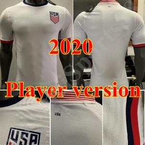 2021 플레이어 버전 멀리 미국 축구 유니폼 뎀시 브래들리 알티 도어 WOOD 남자 축구 셔츠 유니폼 2020 미국 홈