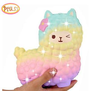 jumbo pecore alpaca squishy carino galassia lento aumento animale squishy smooshy pastoso squish all'ingrosso bambini squisito regalo