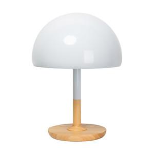 Nordic Abajur Scandinavian Designer cabeceira quarto Moda Criativa iluminação de madeira moderno Luz cabeça de cogumelo bonito Simples