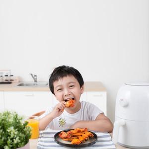 Xiaomiyoupin Onemoon Air Fryer 2L 800W Household inteligente sem fumos de alta capacidade elétrica Fryer francês Fries Máquina