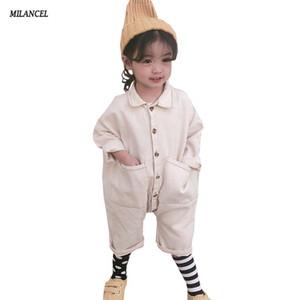 Milancel 2019 Bahar Çocuklar Boy Kızlar Için Katı Kot Çocuk Erkek Giysileri J190517