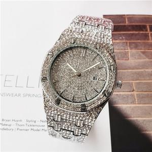오데 브랜드 명품 42mm 다이아몬드 시계 석영 명품 시계 패션 여성과 남성의 시계 Relogio 브랜드 reloj을 손목 시계 시계