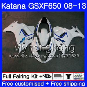 Corps pour SUZUKI KATANA GSXF 650 GSX 650F GSX650F 08 09 10 11 12 13 303HM.14 Blanc brillant Nouveau GSXF650 2008 2009 2010 2011 2011 2011 2013 2013 Carénages