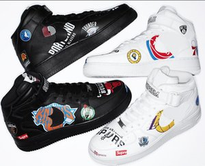 горячие продажи высокое качество трехстороннее совместное имя граффити SUP скейтбординг спортивная обувь унисекс скейт классика воздух кроссовки женщины мужчины обувь