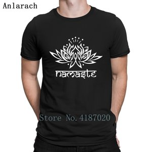 Namaste Lotus Tişört Fun Yaz Top Yaz Yeni Tişört İçin Erkekler Giyim Büyük Boyutları Karakter Anlarach Mektubu