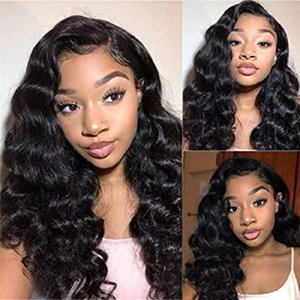 Loose Deep Wave Lace Front Wigs Human Hair with Baby Hair Brazilian Virgin Hair for Black Women 150% Density Pre Plucked