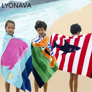LYONAVA bebê toalha de banho crianças Banho Criança Blanket envoltório para Infante recém-nascido da criança Meninos Meninas puro algodão 160 * 80 centímetros 2020 Novo
