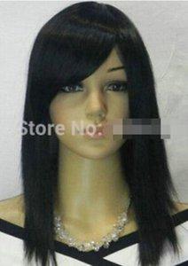 LIVRAISON GRATUITE ++ + Exquise Noire Perruque de cheveux femmes Straight