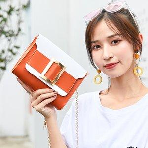 2020 Women Summer Chain Small Square Bag Fashion Personality Messenger Bag PU Leather Shoulder Metal Decoration Handbag