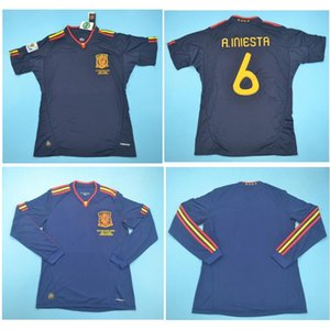 Top 2010 Spanien Retro-Trikots VINTAGE CLASSIC A.INIESTA TORRES Fußball-Jersey-XAVI Fußball-Hemd DAVID VILLA camisa de futebol