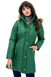 Dewberry Women Light Green Coat-1160001Z6434.