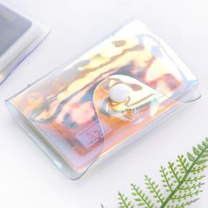 Waterproof Card Case Laser Transparente prova PVC poeira cartão Hoder Pures duráveis carteira bolsa com a pressão Fastener 3C E19
