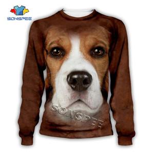 SONSPEE chien drôle imprimé animal 3D visage Sweat Hoodies Mode Hommes Pull à manches longues Femmes Casual Hip hop Tops Streetwear