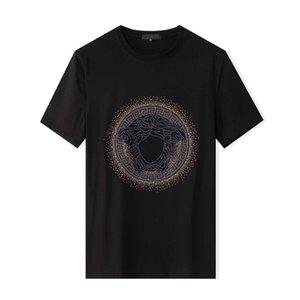 MS para hombre diseñador de la camiseta del patrón de lujo del oso camisetas para hombre de la moda de impresión manga corta de 2020 mujeres de moda de verano camiseta 2colors TQ1 mayorista
