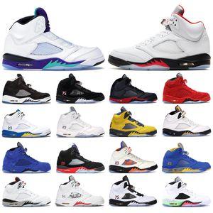 2020 5s para hombre zapatillas de baloncesto 5 Rojo Fuego Hielo Azul LANEY Desierto Camo Fresh Prince Olympic White hombres CEMENTO deportes zapatillas de deporte tamaño 8-13