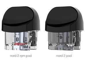 Original Smok Nord 2 Empty Pod Cartridges 4.5ml RPM & Nord Pod without Coil 100% Original smok 3pcs per vape cartridge packaging