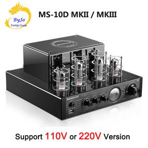 Nobsound MS-10D MKII und MS-10D MKIII Röhrenverstärker Schwarz HI-FI-Stereoverstärker 25W * 2 2.1-Kanal-AMP-Unterstützung Bluetooth USB 110V oder 220V