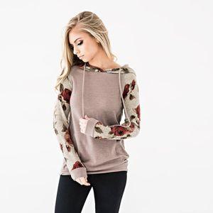 Mujeres sudadera con capucha suéter primavera nueva breve flor camiseta para mujer ropa Tops elegante sudadera con capucha superior sudaderas con capucha Gmy chándal
