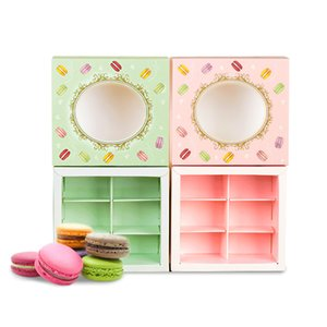 Packaging Tansparent End Macarons Cookie Gift Box Baking Cake Box Packaging Candy Party 10 Window Wedding High Bag Gift Drawer Xfrmj