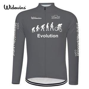 Evolution rapide à sec cyclisme maillot à manches longues Printemps shirt respirant pour hommes Vêtements de vélo de course Hauts Vêtements 8011