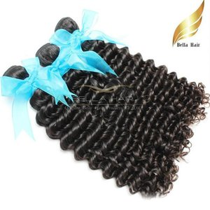 Indian Wet And Wavy Deep Wave Hair Extension Human Hair Weave Grade 8A Natural Color 3pcs lot Full Cuticle Free Shipping Bellahair