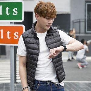 Beiläufige Art und Weise Jacke Männer Winter Mannjacke der koreanischen Art Fest Zipper Baumwollsleeveless ZOGAA Winterweste plus Größe