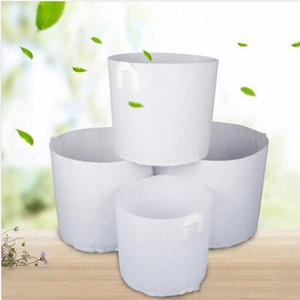 Sacs non tissé croissance arbre tissu Pots GROW Sac conteneur racine Plante Pouch Plantation main Fleurs Sacs non tissé Flowerpot plantes ZYQ512