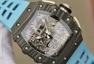 rm11-03 orologio di lusso auto impermeabile vetro zaffiro movimento meccanico impermeabile flyback timing mens multifunzionali orologi