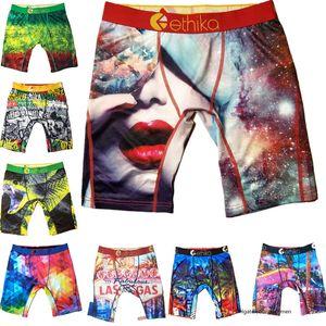 Intimo Uomo Donne Ethika Sport pugile tecnico Quick Dry Graffiti Stampa Marca Pantaloncini Leggings Beach Trunks pantaloni u2