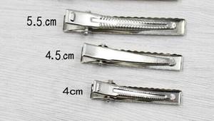 Singolo Prong metallo di capelli del coccodrillo accessori clip di colore d'argento a buon mercato di Hairclips Forcina dei capelli delle ragazze arco fiore Abito Accessori 100PCS FJ3223