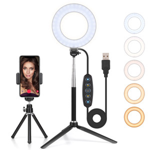 LED Light Ring Dimmable 6 pouces maquillage Annulaire, avec trépied selfie bâton, Light Ring pour en streaming