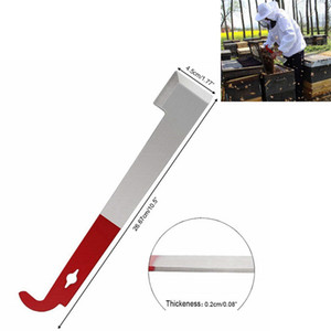 Herramientas de abeja raspador de colmena de acero inoxidable tipo J apicultor raspador cola roja herramientas de apicultura suministros de insectos portátil miel cuchillo de casa FFA3709