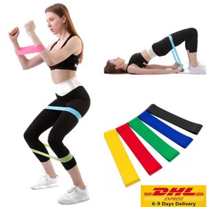 US DHL tensão faixa da resistência Pilates Yoga faixas da resistência de borracha aptidão laço da corda do estiramento bandas de exercício Crossfit Elastic ginásio de treinamento
