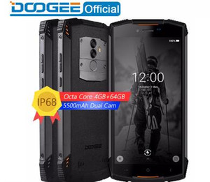 Gerçek IP68 DOOGEE S55 su geçirmez Smartphone 4 GB RAM 64 GB ROM 5500 mAh MTK6750T Sekiz Çekirdekli 5.5 inç Android 8.0 Çift SIM 13.0MP 4GLTE Cep Fonu