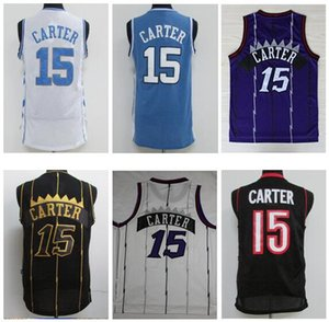 NCAA Meilleure Qualité College Caroline du Nord Hommes Maillots Université Carter Jersey Tracy 1 McGrady Maillots Penny 1 Hardaway Vince 15 Carter Shirt