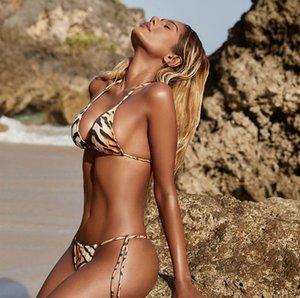 Fashion-Europe und die Vereinigten Staaten neue Triangle Bag Bikini sexy Tiger Print Badeanzug Split Badeanzug