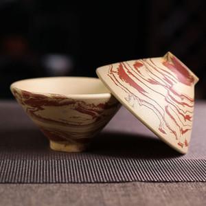 High Quality Tea Master Cup Lila Ton Teeschale Grüner Tee-Maschine Cup Glaze Teacup Kreativer Hauptdekor