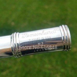 Gemeinhardt M3 Oro único labio C Tune flauta cuproníquel plateado cuerpo de la flauta 17 teclas de pozos abiertos con Nueva Flauta caso del envío