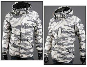 Jacken Mode Mulit Taschen Herren Zipper Panelled Jacken beiläufige Männer Kleidung Camouflage-Print Herren Designer Cotton Padded