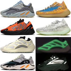ayakkabı Kanye West Boost 700 Running Shoes Azael Alvah Skeleton Alien Mist Carbon Blue 700 v2 Wave Runner Vanta Trainer Men Women Luxury Designer Sneakers
