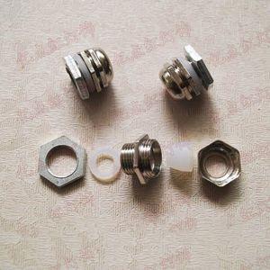 PG7 Разъем Водонепроницаемые Metals для наружного Прожекторы жильный кабель Водонепроницаемый частей pg7 водонепроницаемый разъем LED аксессуары Освещение